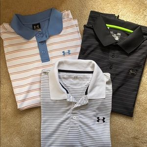Men's Under Armour Polos size md and large